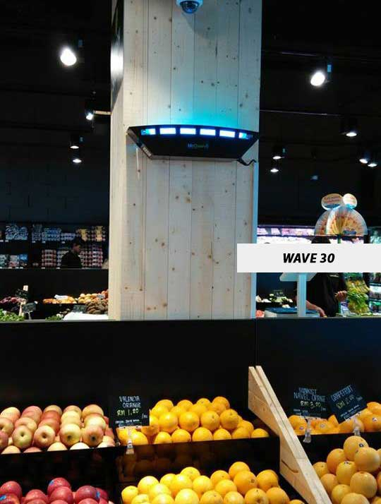 Wave30 at Fruits Display Rack